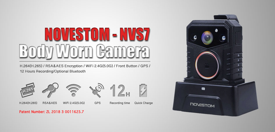 NVS7-police body worn cameras with GPS WIFI AES