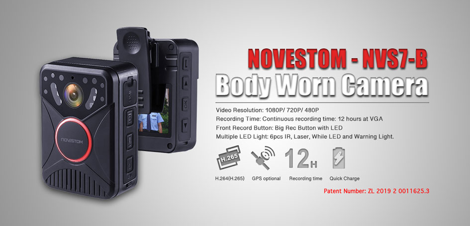 NVS7-B Body Worn camera with GPS wifi