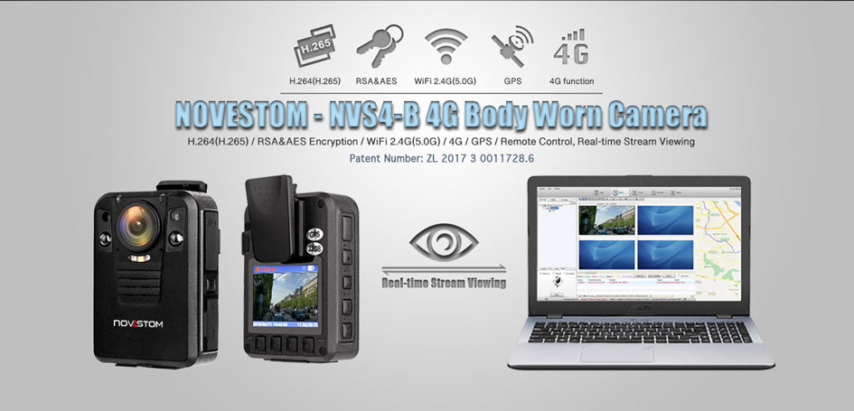 NVS4-B 4G body camera for police wearing