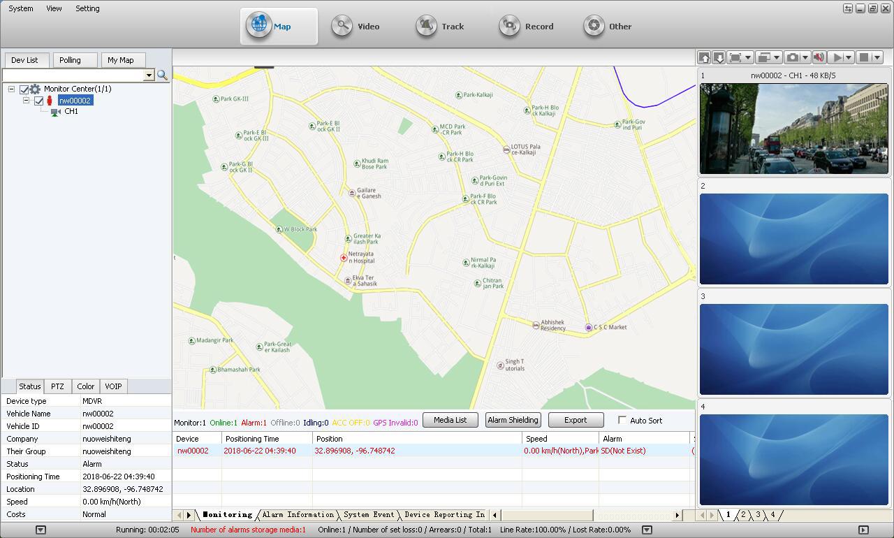 Novestom 4G junto ao corpo da câmera software CMSV6 GPS WIFI 4G