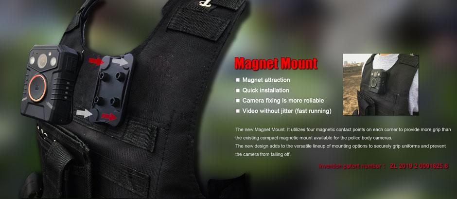 Magnet-Mount for body worn cameras