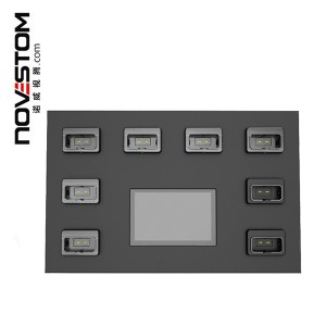 NVS10-C 7 inch touch screen 8 Ports docking station for body worn cameras