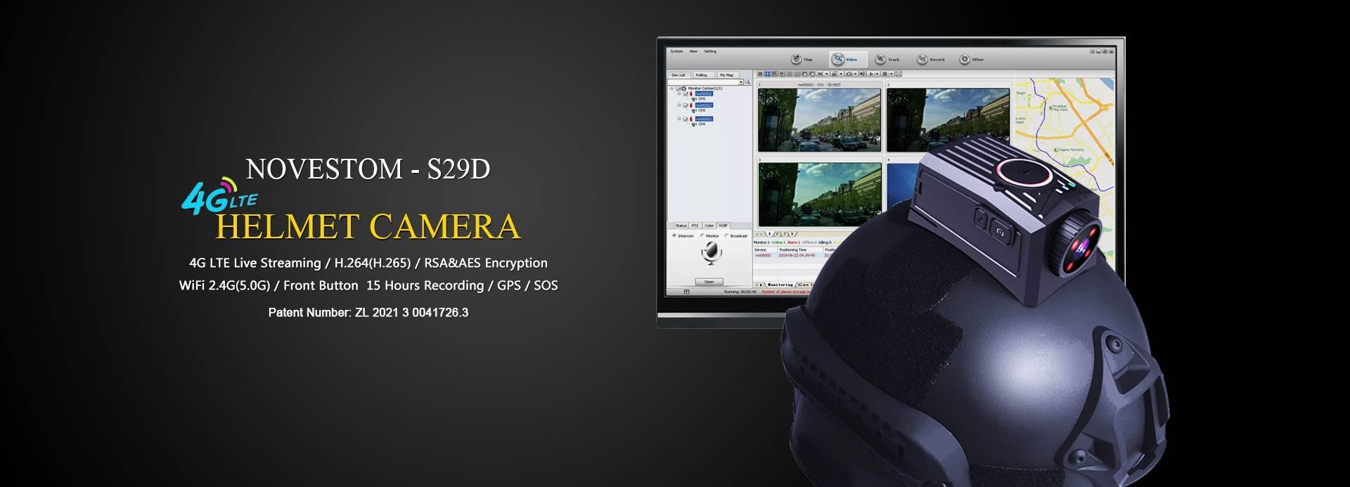 NOVESTOM S29D-4G-live-streaming-helmet-camera with GPS WIFI LTE live