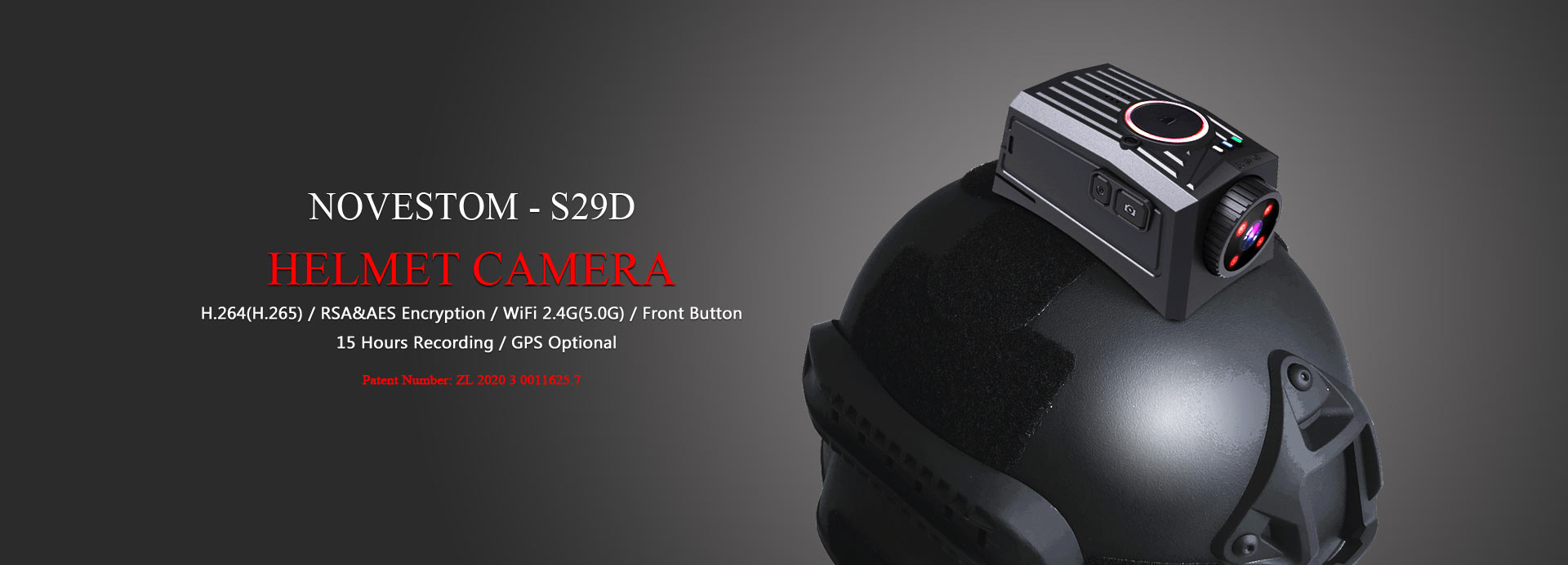 the best S29D Military helmet wearable camera police with WIFI