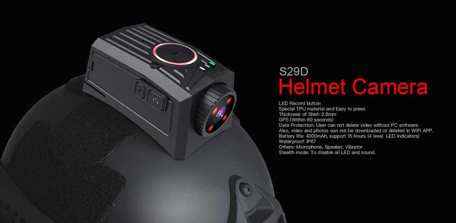 Kamera kasku NOVESTOM S29D z 15-godzinnym nagrywaniem na żywo WiFi GPS BT opcjonalnie